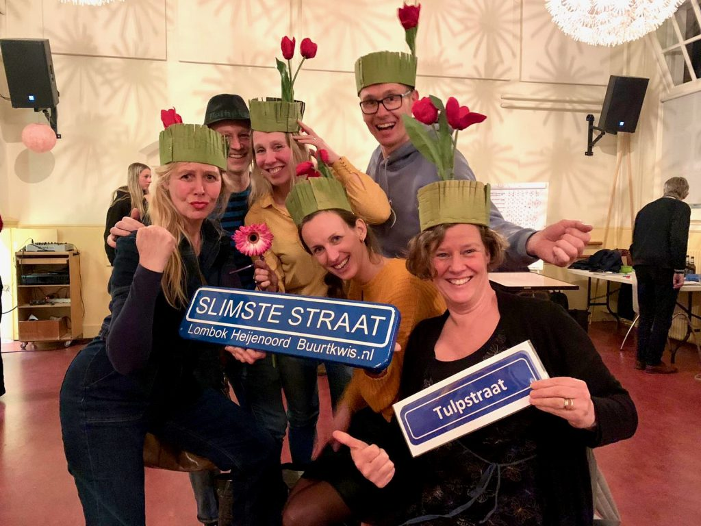 Team Tulpstraat, winnaars maart 2020 Buurtquiz Lombok-Heijenoord.